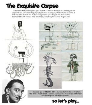 Art - Collaborative Drawing Activity - The Exquisite Corpse