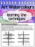 Art - Intro to watercolours for high school - HOW-TO guide