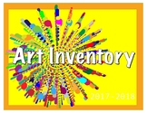 Art Inventory- your easy go-to-list to always know your st