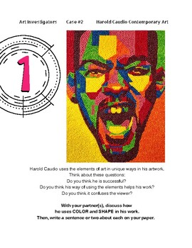 Art Investigators #2 Lesson Plan with Resources - Contemporary Art - Portraits