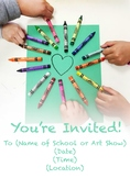 Art Invitation for Poster or Small Take Home