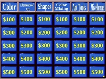 Art Jeopardy