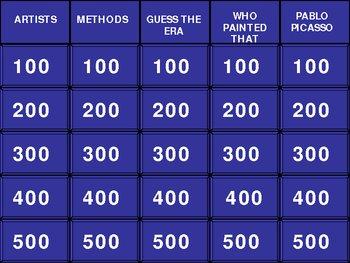 Art Jeopardy!