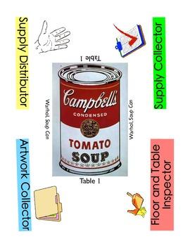 Art Job Table Labels