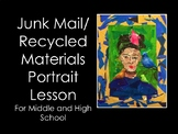 Middle and High School Art Lesson -Junk Mail and Recycled