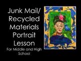 Art Lesson -Junk Mail Portraits