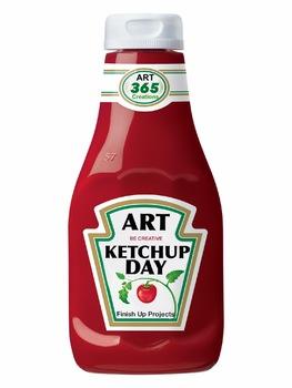 Art Ketchup Day Sign