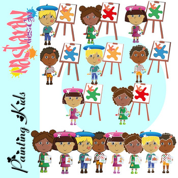 Painting Kids Clipart