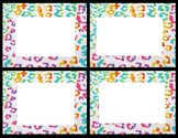 Classroom Labels, Animal Patterns Borders (6 pg, 2 sizes), Art Science