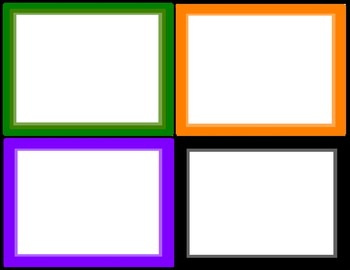 Border Labels for the Classroom in Primary/Secondary Colors (6 pages, 2 sizes)