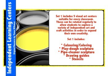 Art: Learning Centers Part 1
