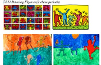 Art Lesson - 2nd/3rd Grade KEITH HARING Dancing Figures