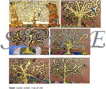 Art Lesson - 4th/5th Grade GUSTAV KLIMT Tree of Life