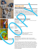 Art Lesson - African Dolls based on Common Core Standards (elementary)