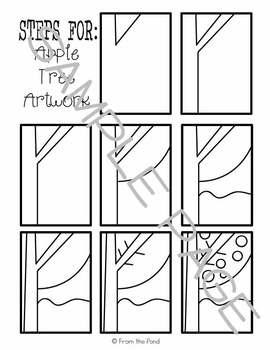 Art Lesson - Apple Tree Painting + Oil Pastel
