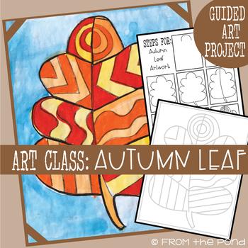 Art Lesson - Autumn Leaf Painting + Oil Pastel