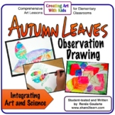 Art Lesson Autumn Leaves Observation Drawing