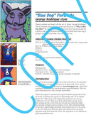 Art Lesson - Blue Dog portrait George Rodrigue (elementary) common core content