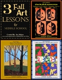 Art Lesson Bundle: 3 Fall Art Lessons