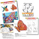 Art Lesson - Butterflies Art and Science including Life Cycle Exercise Worksheet