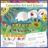 Art Lesson - Caterpillar Art and Science Lesson Including  Butterfly Life Cycle