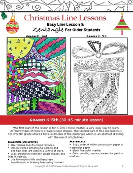 Art Lesson Christmas Doodle And Zentangle With Printable Coloring