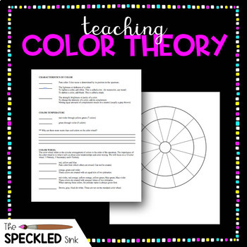 Art Lesson. Color Theory Two Sided Worksheet. (Elementary