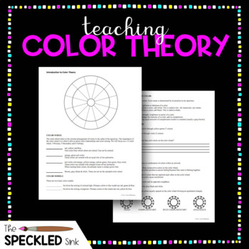 Art Lesson. Color Theory Two Sided Worksheet. Secondary (7-12th)