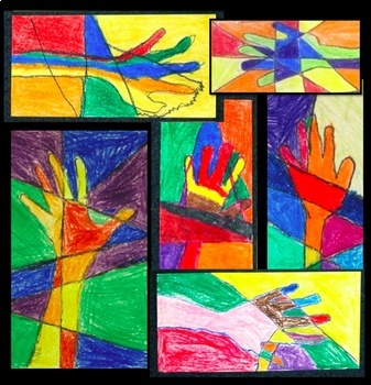Art Lesson Colorful Hands