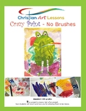 Art Lesson: Crazy Paint - No Brushes Inspired by Eric Carle