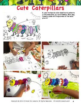 Art Lesson: Cute Caterpillars