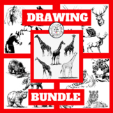 Art Lesson Directed Drawing Bundle - Sub Lessons