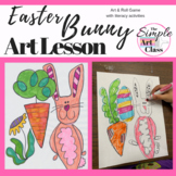 Art Lesson: Easter Bunny | Sub Plans, Early Finishers, No Prep
