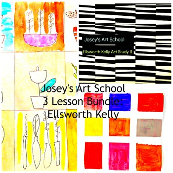 Art Lessons Ellsworth Kelly 3 Lesson Bundle K-6 Art Project with Art History