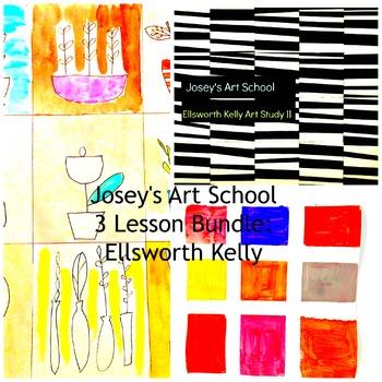 Art Lessons Ellsworth Kelly 3 Lesson Bundle K-6 Art Project with Art History