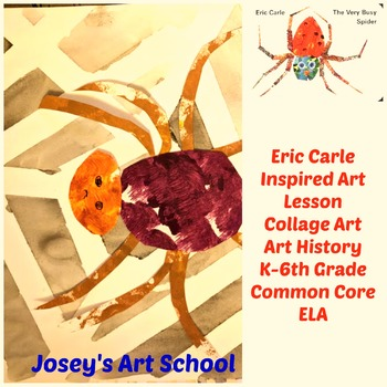 Art Lesson Eric Carle Spiders Grade 1st to 6th Grade Collage Drawing Painting