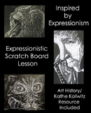 Middle & High School Art Lesson- Expressionistic Scratchboard