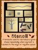 Art Lesson: Fall Stencil Project