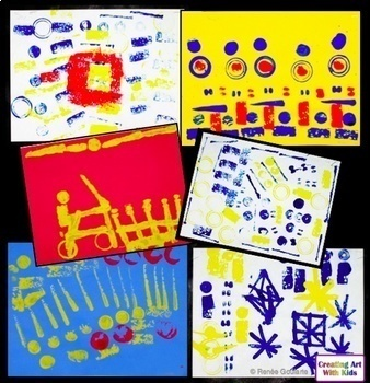 Art Lesson Found Objects Stamp Patterns