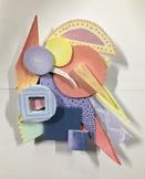 Art Lesson: Frank Stella Inspired Relief Sculpture