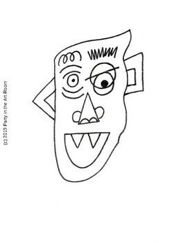 Art Lesson: (Halloween) Monster Art Game | Art Sub Plans, Early Finishers