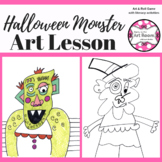 Art Lesson: (Halloween) Monster Art Game | Art Sub Plans,