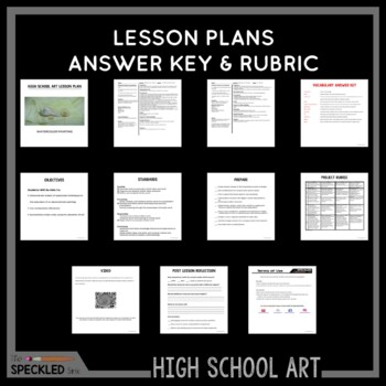 High School Art Lesson Plan Watercolor Painting Lesson Rubric And Handouts