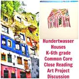 Art Lesson Hundertwasser Houses Grade K 6th Grade Art History Drawing