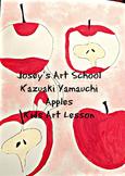 Art Lesson Illustration Art Teach Kazuaki Yamauchi to Grades 1st-4th Apples