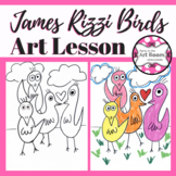 Art Lesson: James Rizzi Bird Art Game | Art Sub Plans