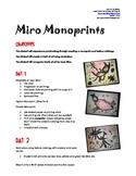 Art Lesson - Joan Miro Monoprints
