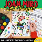 Art Lesson: Joan Miro Portrait Roll A Dice Game and Art Su