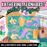 Art Lesson: Katherine Bernhardt Pattern Painting Roll A Dice Game & Art Sub Plan