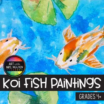 Art Lesson: Koi Fish Paintings
